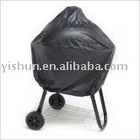 BLACK PVC SMOKER & KETTLE COVER FOR BBQ