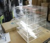 Acrylic makeup storage with 5 drawers