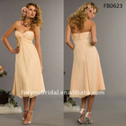 FB0623 Tea Length Sleeveless Chiffon Bridesmaid Dress Online