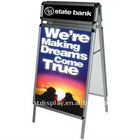 Pavement poster signs with header