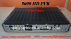 2011 New Model 8000 HD PVR 8000HD Satellite Receiver with Twin-DVB-S2 tuner