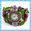 DKW146 elegant ladies watch exporter colorful rhinestone watch bracelet