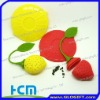 strawberry shape silicone tea tools