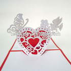 Love shape wedding pop up cards