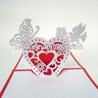 Love shape wedding pop up cards