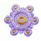 size:6x6cm.garmet's embroidery patches with stick on base supplier