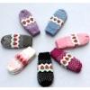 fashion and cut winter knitting acrylic glove for teen girls or boys