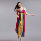 2013 Summer Collection Striped Braided Casual Maxi Gown Long Dresses