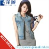2012 Top Design Brand Logo Sexy Lady Slim Women Sleeveless Denim Jacket (GKCJ007)