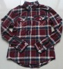 mens cotton checks yard dyed shirt with long sleeve