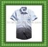 Latest fashion casual men half sleeve shirts men's fashion woven shirt from garment factory