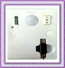 Fashionable Wall Socket, LED Night Light with Mini USB