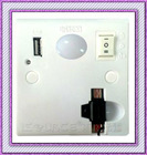 Fashionable Wall Socket, LED Night Light with Mini USB