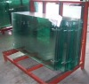 high quality bent tempered safety glass with edge polished for cabinet with ISO 9001