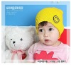 2012 Smiley face Lovely Knitted Baby Hat hot sale