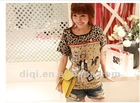 most popular fashion cotton girl printed t shirt in 2013 summer