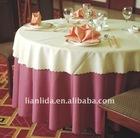 100% polyester plain visa hotel table cloth