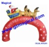 Inflatable Santa Sleigh Merry Christmas Arch