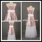 2012 Stunning Layered Taffeta Spaghetti Strap Party/Prom Bridesmaid Dress XYY-mal26