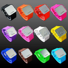 2012 new design colorful silicone led watch,Fan-shaped Digital bracelet led watch,fashion led watch