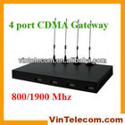 4 Ports CDMA Fixed Wireless Terminal 800/1900Mhz one year warranty china manufactural