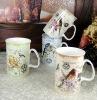 set of 4 procelian coffee mug