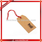 kraft paper hangtag with cotton string for garments