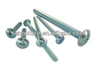 machine screw truss head with fine thread
