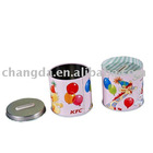 Round tin coin bank with lid can be open (CD-106)