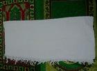 100% polyester white muslim hajj towel