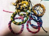 elastic and colorful child tracking bracelets with leather