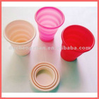 Colorful silicone cup