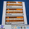 warning adhesive sticker