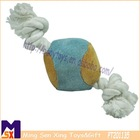 durable chewy knotted ball for dog,puppy chewy toy