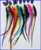 Real Colored Clip-in Mixed Feather Extensions for Hair