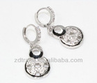 Newest Ring Circle Glittering Elegant Jewelry Korea High-quality Manual arring Big Fashion ZDER-173 2012 2013 for girls