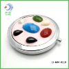 Double sides Makeup pocket Mirror with gem