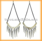 Zirconium plating spike slimming hoop earrings