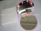 Round Style cosmetic mirror with 8 LED