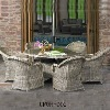Round Wicker Outdoor Dining Furniture Set