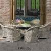 Round Wicker Outdoor Dining Furniture Set