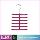 different colors ABS velvet tie hanger