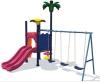children swing and slide playground equipment