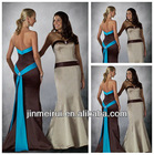 Beautiful Strapless Long Sash Mermaid Design Evening Dress Two Color