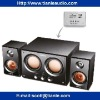 2.2 CH Wooden case subwoofer speaker system with USB/SD SLOT