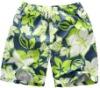 men's beach board short, flower shorts