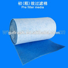 white FRS-30 air inlet cotton used as pre-filter media filter cotton