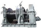 Hydraulic integrated anchor winch