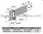 Dm02034/Dm02034S, used for truck and trailer, zinc plated steel door hinge