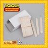 natural color round edge bamboo ice cream stick